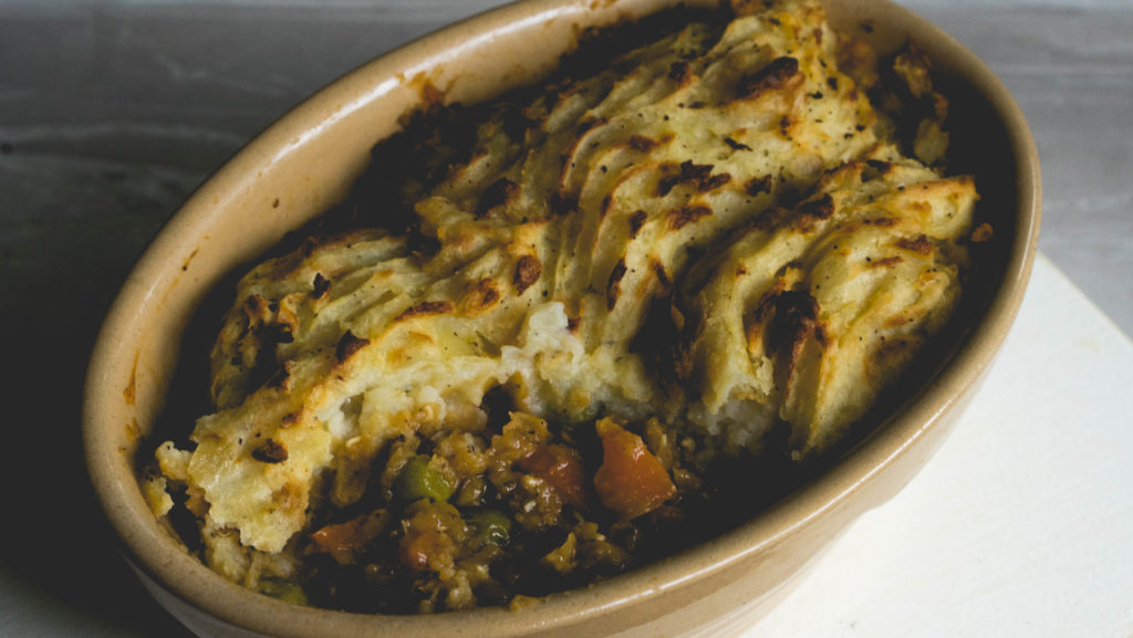 weganski shepherds pie